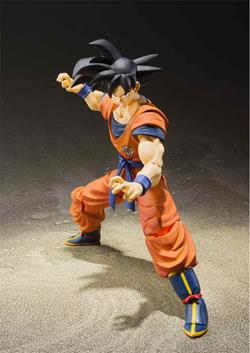 SON GOKU SAIYAN RAISED ON EARTH FIGURA 14 CM DRAGON BALL Z SH FIGUARTS RE-ISSUE